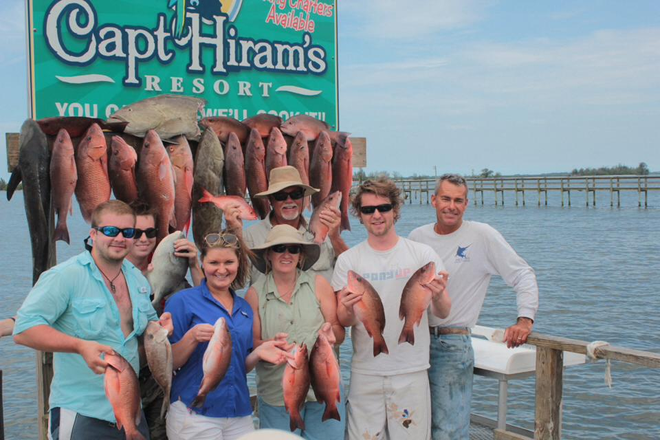 Group posing with catch