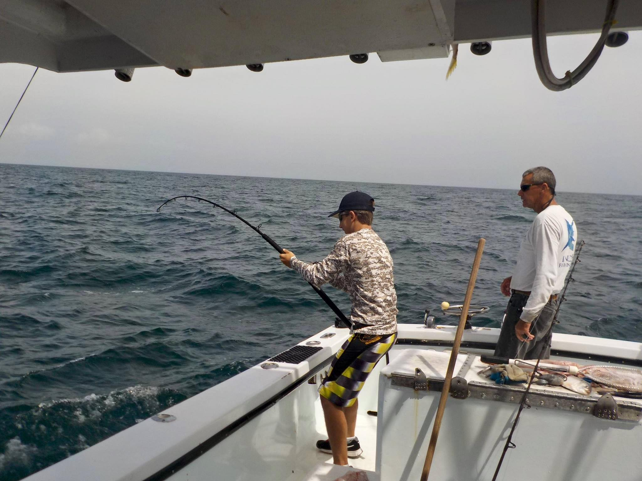 Fishing aboard the incentive charter
