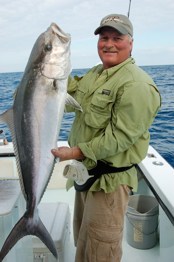 Amberjack on the boat
