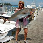 Amberjack on the dock